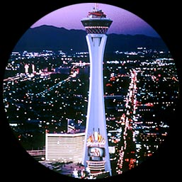 Stratosphere Casino Hotel & Tower high above Las Vegas